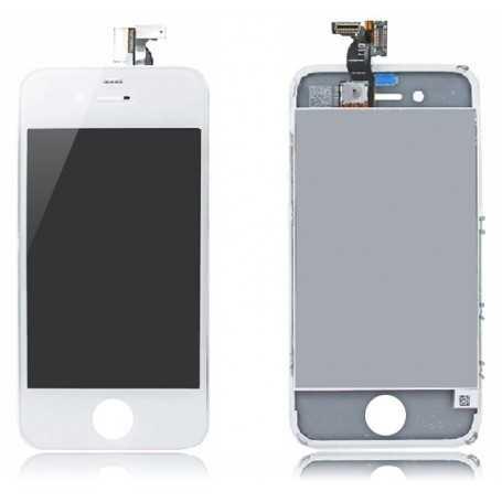 Face avant iPhone 4 Blanc : Vitre Tactile + Ecran LCD assemblés sur Chassis