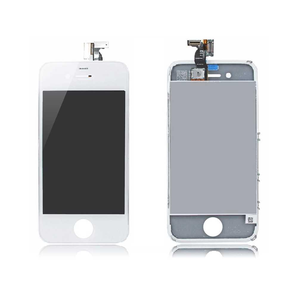 ecran complet iphone 4s blanc vitre tactile ecran lcd pour iphone 4s blanc. Black Bedroom Furniture Sets. Home Design Ideas