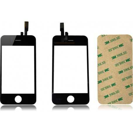 Ecran/Vitre tactile pour iPhone 3GS Noir + Autocollant 3M
