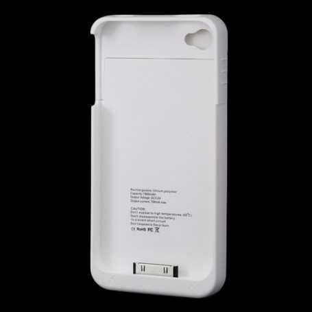 Coque avec Batterie intégrée pour iPhone 4/S - Noir ou Blanc