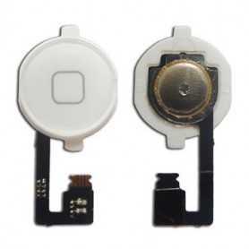 Bouton Home pour iPhone 4S Blanc avec nappe