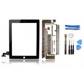Kit Vitre/Ecran tactile iPad 2 Noir (WiFi & 3G) + Outils iPad + Autocollant 3M
