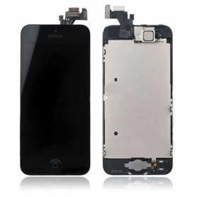Face avant iPhone 5 Noir : Vitre Tactile + Ecran LCD assemblés sur Chassis