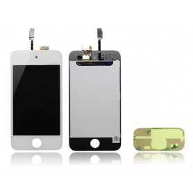 Ecran iPod Touch 4 Blanc : Vitre Tactile + Ecran LCD + Autocollant 3M