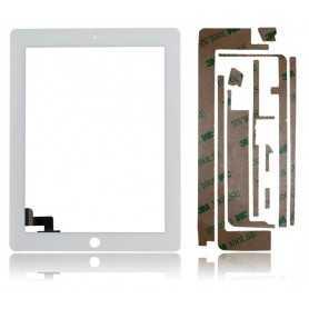 Ecran/Vitre tactile pour iPad 2 Blanc (WiFi & 3G) + Autocollant 3M