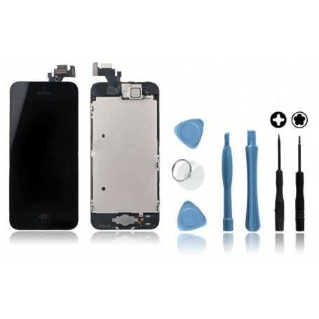 Kit Face avant iPhone 5 Noir : Vitre Tactile + Ecran LCD + Outils