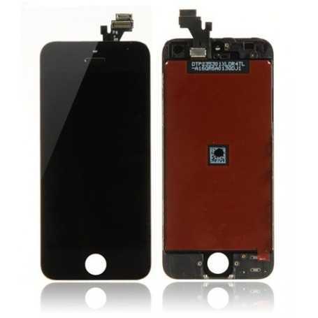 Face avant Originale pour iPhone 5 Noir : Vitre Tactile + Ecran LCD