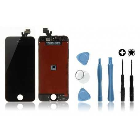 Kit Face avant Originale pour iPhone 5 Noir : Vitre Tactile + Ecran LCD + Outils