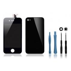 Kit Ecran original + Vitre arrière pour iPhone 4S Noir + Outils