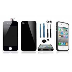 Kit Transformation iPhone 4S Noir : Ecran + Vitre arrière + Bouton Home + Outils + Bumper Noir