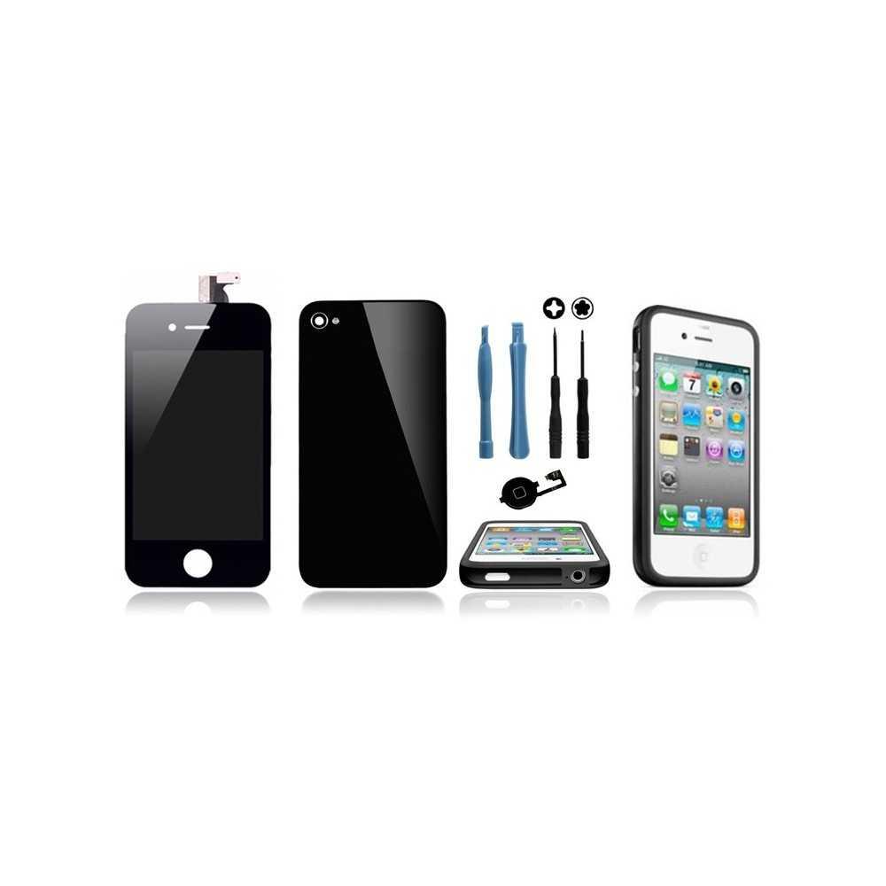 kit transformation iphone 4s noir ecran vitre arri re bouton home outils bumper noir. Black Bedroom Furniture Sets. Home Design Ideas