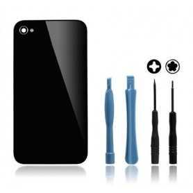 Kit Vitre arrière pour iPhone 4 Noir : Vitre arrière + Outils