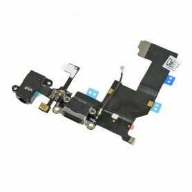 Connecteur de charge Lightning iPhone 5 Noir ou Blanc avec Prise casque + Micro + Antenne GSM
