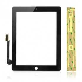 Ecran/Vitre tactile pour iPad 3 et 4 Noir (WiFi & 3G) + Autocollant 3M