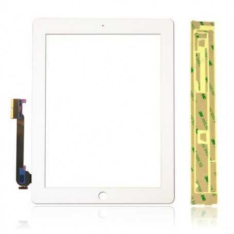 Ecran/Vitre tactile pour iPad 3 Blanc (WiFi & 3G) + Autocollant 3M