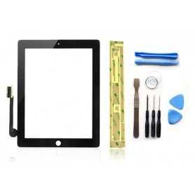 Kit Vitre/Ecran tactile iPad 3 et 4 Noir (WiFi & 3G) + Outils iPad + Autocollant 3M