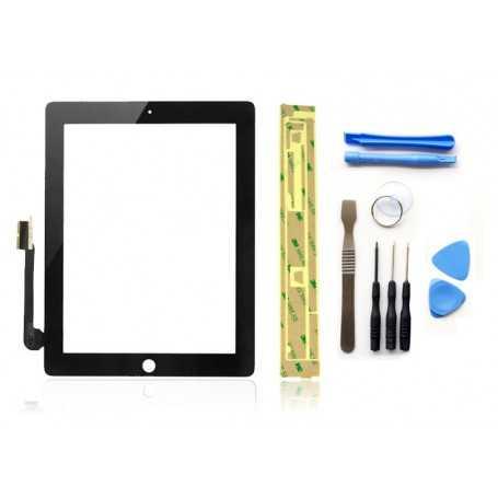 Kit Vitre/Ecran tactile iPad 3 Noir (WiFi & 3G) + Outils iPad + Autocollant 3M