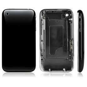 Coque de remplacement pour iPhone 3GS Noir avec Contour Chromé