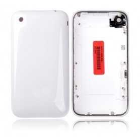 Coque de remplacement pour iPhone 3GS Blanc avec Contour Chromé