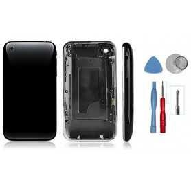 Kit Coque de remplacement pour iPhone 3GS Noir avec Contour Chromé + Outils