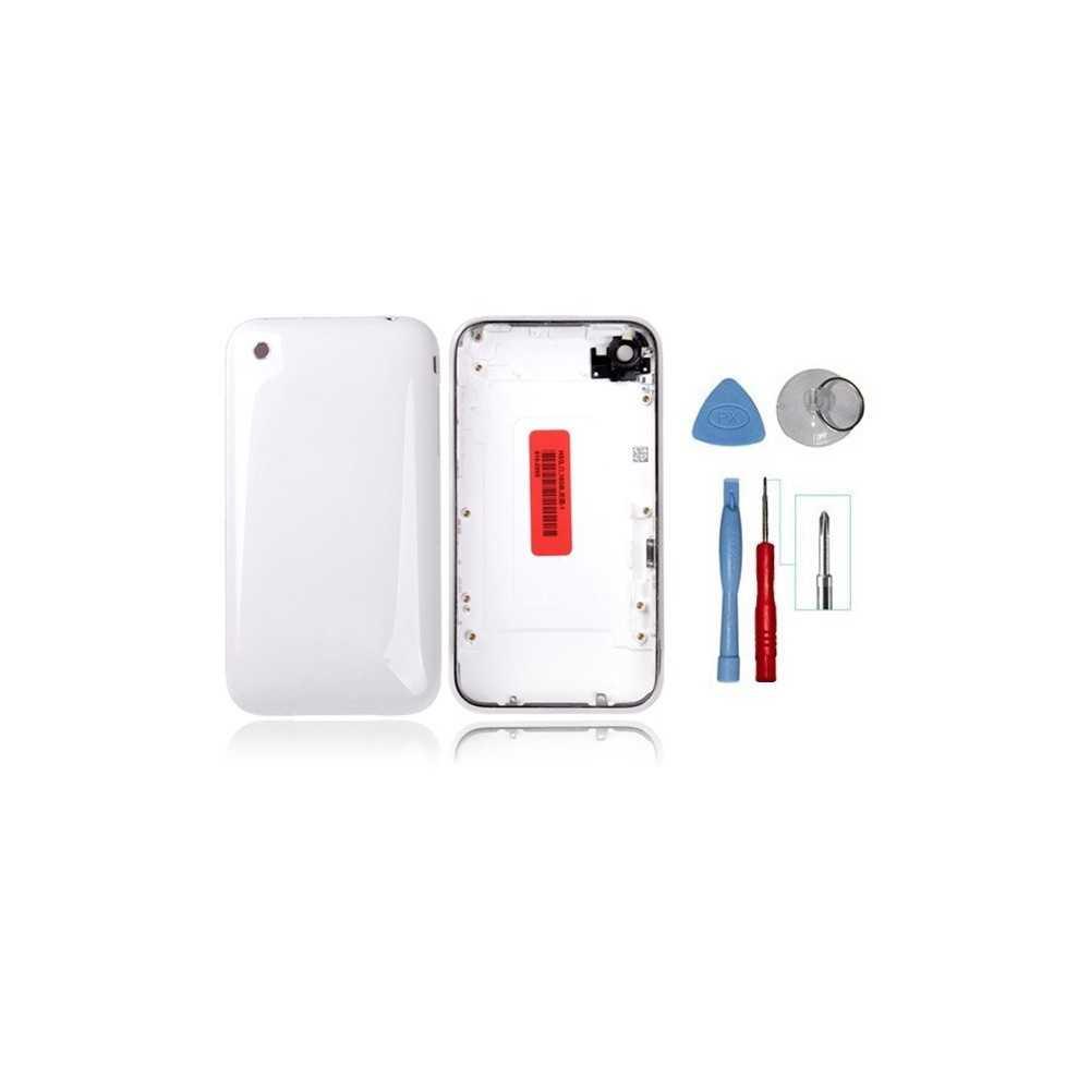 kit coque de remplacement pour iphone 3gs blanc avec contour chrom outils iphone 3gs. Black Bedroom Furniture Sets. Home Design Ideas