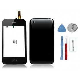 Kit remise à neuf iPhone 3GS Noir : Vitre tactile + Coque arrière + Outils iPhone