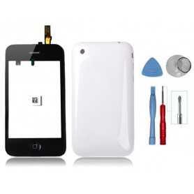 Kit remise à neuf iPhone 3GS Blanc : Vitre tactile + Coque arrière + Outils iPhone 3GS