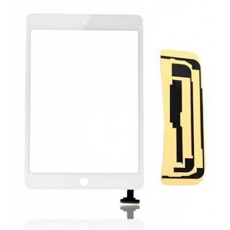Ecran/Vitre tactile pour iPad Mini Noir ou Blanc + Autocollant 3M