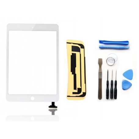 Kit Vitre/Ecran tactile iPad Mini (Noir ou Blanc) + Outils iPad + Autocollant 3M