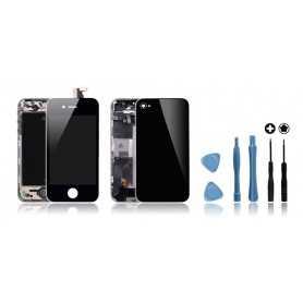 Kit de remise à neuf iPhone 4S Noir : Ecran + Châssis + Vitre Arrière + Outils