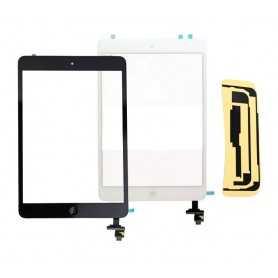Ecran/Vitre tactile complète pour iPad Mini Noir ou Blanc + Autocollant 3M