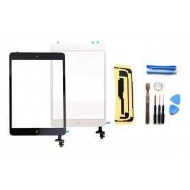 Kit Ecran/Vitre tactile complète pour iPad Mini Noir ou Blanc + Outils iPad + Autocollant 3M