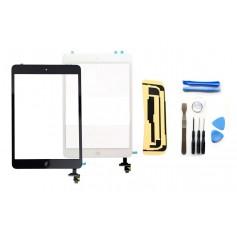 Kit Ecran/Vitre tactile Complète pour iPad Mini & iPad Mini 2 Retina, Noir ou Blanc + Outils iPad + Autocollant 3M