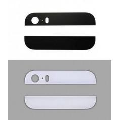 Vitres arrière haut et bas pour iPhone 5S - Noir ou Blanc