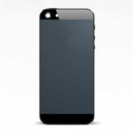 Coque arrière pour iPhone 5 Noir avec boutons - Sans logo Apple