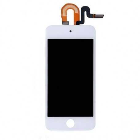 Ecran complet pour iPod Touch 5 Blanc : Vitre Tactile + Ecran LCD