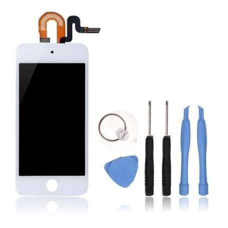 Kit Ecran complet pour iPod Touch 5 Blanc : Vitre Tactile + Ecran LCD + Outils
