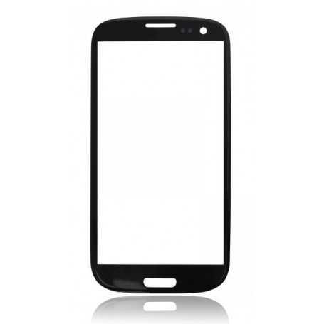 Vitre Samsung Galaxy S3 Noir + Autocollant