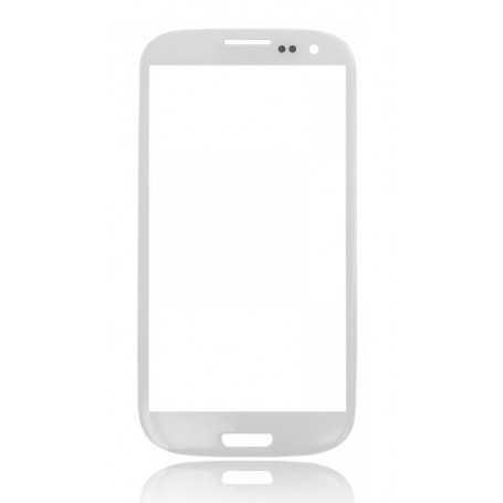Vitre Samsung Galaxy S3 Blanc + Autocollant