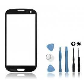Kit Vitre tactile Samsung Galaxy S3 Noir + Outils