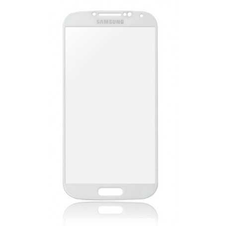 Vitre Samsung Galaxy S4 Blanc + Autocollant