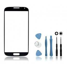 Kit Vitre Samsung Galaxy S4 Noir + Outils