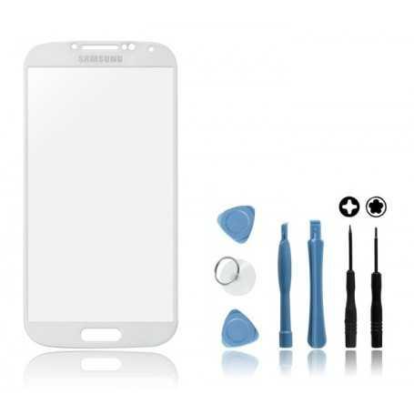 Kit Vitre Samsung Galaxy S4 Blanc + Outils