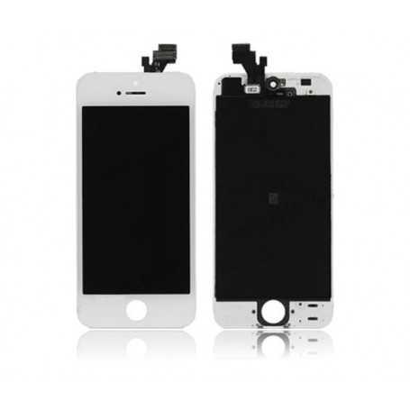 Face avant Originale pour iPhone 5 Noir ou Blanc : Vitre Tactile + Ecran LCD