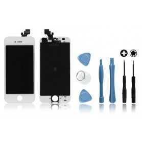 Kit Ecran original pour iPhone 5 Blanc : Vitre Tactile + Ecran LCD + Outils