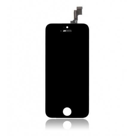 Face avant Originale pour iPhone 5C Noir : Vitre Tactile + Ecran LCD