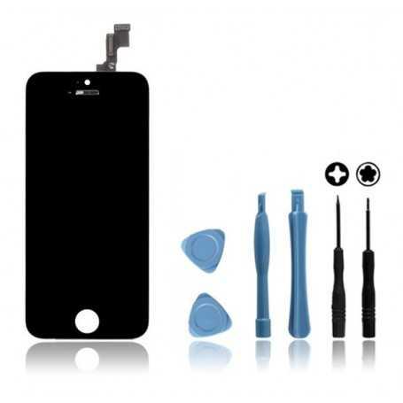 Kit Face avant Originale pour iPhone 5C Noir : Vitre Tactile + Ecran LCD + Outils