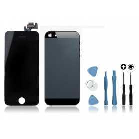 Kit Ecran + Coque arrière pour iPhone 5 Noir + Outils