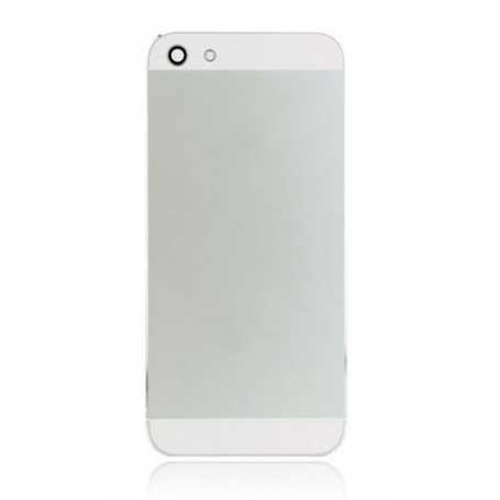 Coque arrière pour iPhone 5 Blanc avec boutons - Sans logo Apple