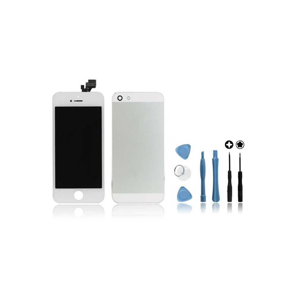kit ecran coque arri re pour iphone 5 blanc outils. Black Bedroom Furniture Sets. Home Design Ideas